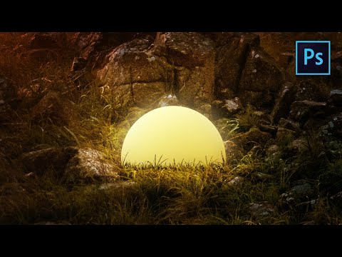 [Photoshop Manipulation ] How To Create Light  Ball In Photoshop - TUTORIAL