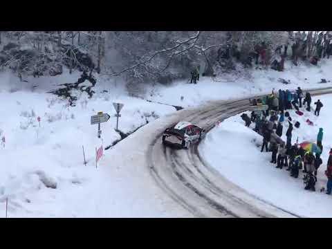 Miikka Anttila Almost CRASH Rallye Montecarlo 2018 Toyota Yaris