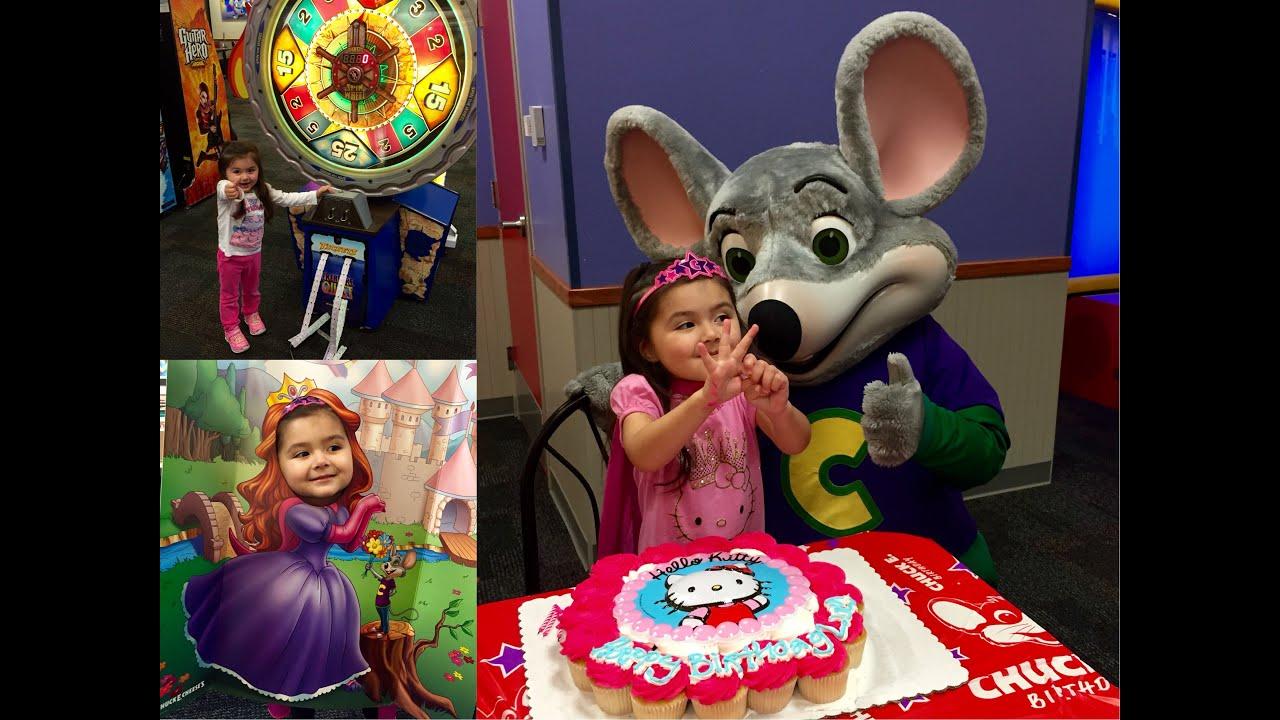 Lucys 3rd Birthday at Chuck E Cheese YouTube