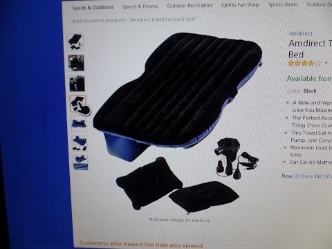 Amdirect Travel Car Back Seat Inflatable Mattress Air Bed