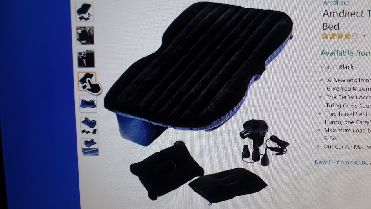 Backseat Inflatable Bed Amdirect Travel Car Back Seat Inflatable Mattress Air Bed Youtube