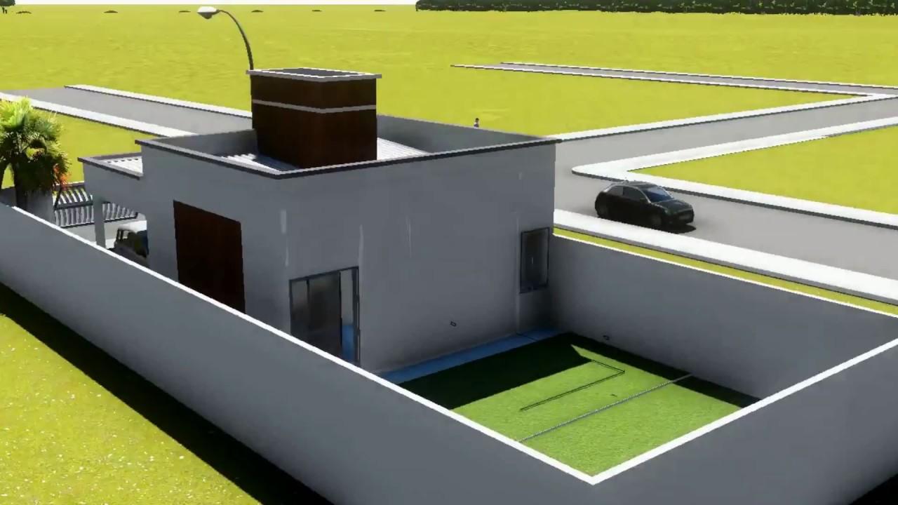 Natan fontes casa 70m youtube for Casa moderna 8x20