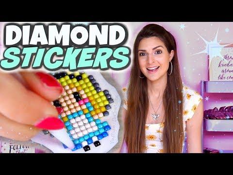 Testing DIAMOND PAINTING STICKERS Craft Kit // SoCraftastic