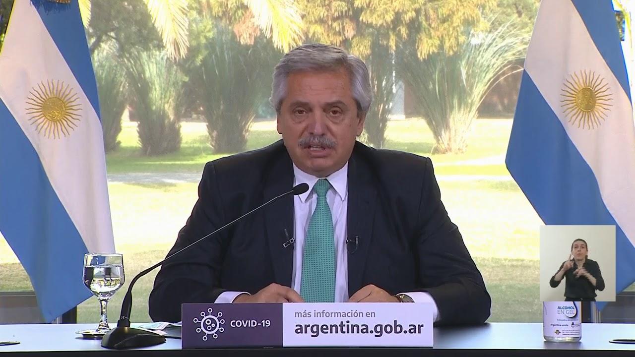 Anuncio del presidente Alberto Fernández junto a Axel Kicillof y Horacio Rodríguez Larreta
