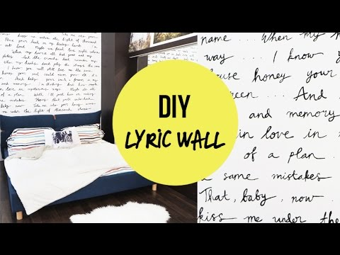 DIY STATEMENT WALL | LYRIC WALL (Ed sheeran-Thinking Out Loud)