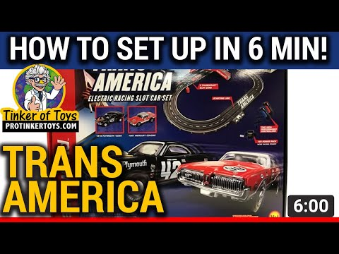 Trans America Slot-car HOW TO SET UP!!!  Auto World SRS326