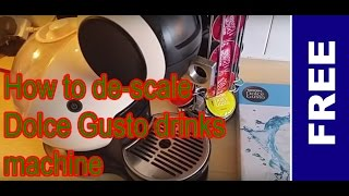 How to descale a Nescafe Dolce Gusto machine (hack)