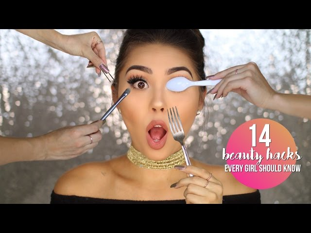 14 BEAUTY HACKS EVERY GIRL SHOULD KNOW | MAKE LIFE EASIER & SAVE MONEY!