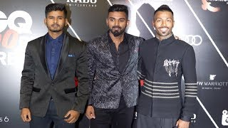 Indian Young Cricketers Hardik Pandya, KL Rahul And Shreyas Iyer At GQ Best Dressed 2018