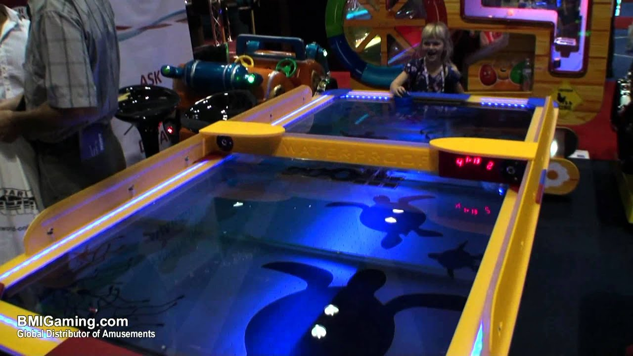 Shark Waterproof Outdoor / Indoor Commercial Air Hockey Table    BMIGaming.com   PunchLine Games   YouTube