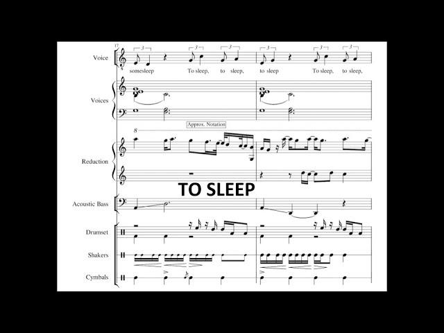 To Sleep - Jacob Collier (Transcription)