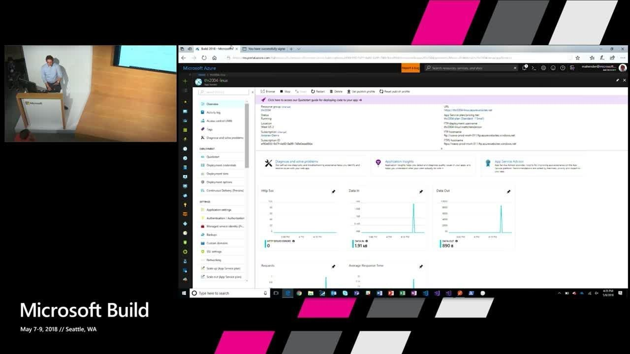 Identity and secure resource access in App Service and Azure Functions :  Build 2018