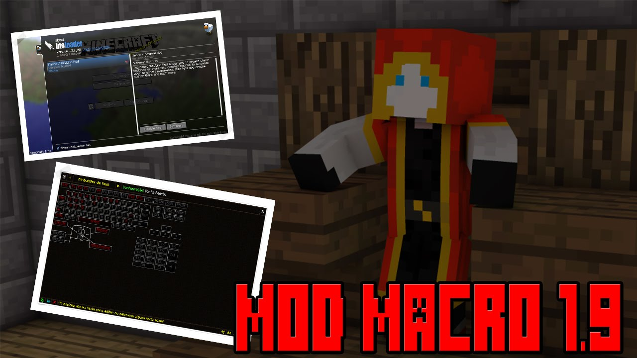 "Como Baixar E Instalar Mod Macro Para Minecraft 1.9 ""Para"