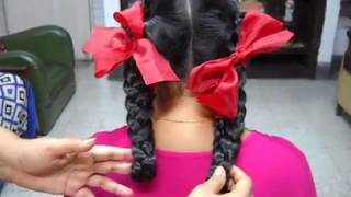 A Simple and Easy Hairstyle for School Girl