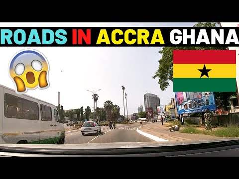 🇬🇭THE REAL ROADS OF ACCRA,GHANA