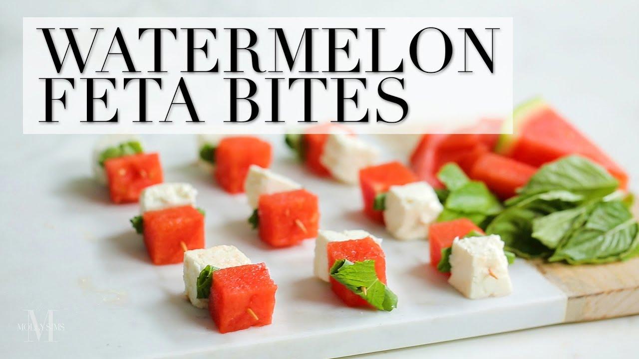 Watermelon Feta Bites Recipe with The Kitchy Kitchen - YouTube