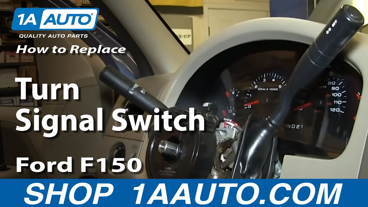 How To Install Replace Turn Signal Switch 2004 008 Ford F150 Youtube 2002 F 150 Fx 4 Main Fuse Box Diagram