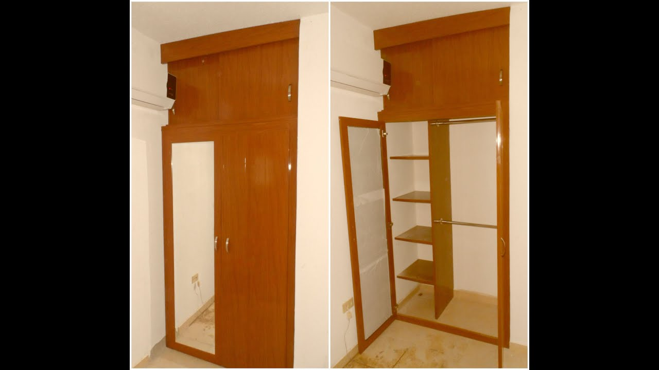 Closet de pvc ideal para espacios reducidos youtube for Closet de madera para dormitorios modernos