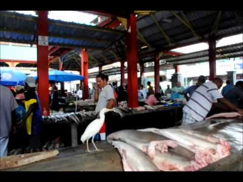 Fish Market In The Seychelles