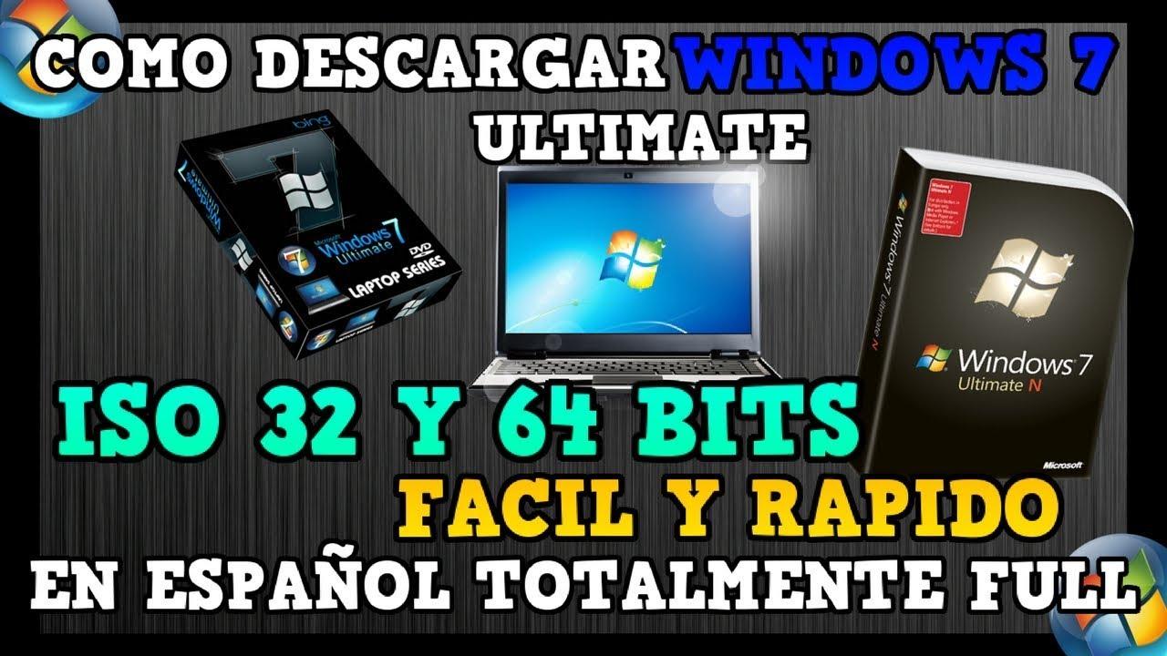 descargar windows 7 ultimate 32 bits iso espanol original