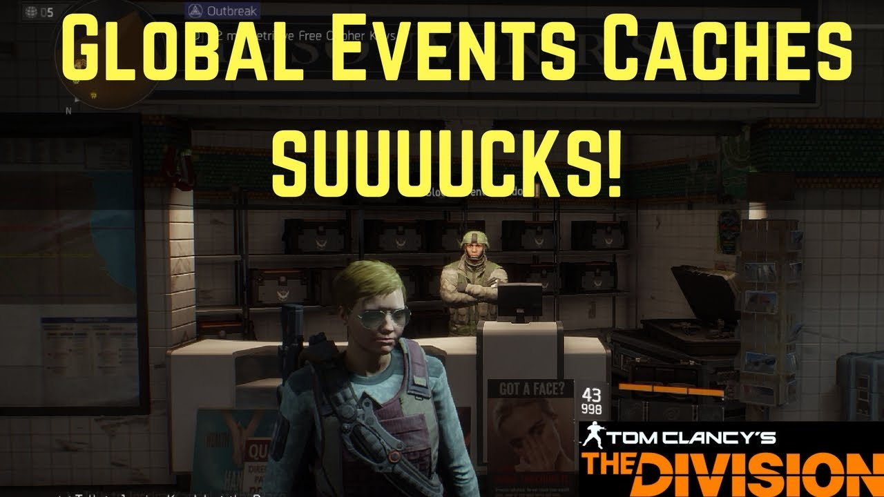 The Division Global Events Caches SUUUUCKS! - YouTube