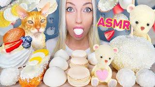 ASMR EATING WHITE FOOD, CHOCOL…