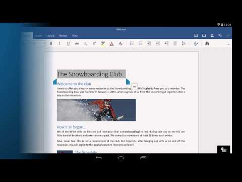 Word For Android Tablet: Getting Started