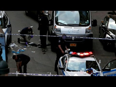 NYPD officer attacked by man with meat cleaver