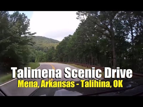 Talimena Scenic Drive (Quachita National Forest) - Entire route with narration stops