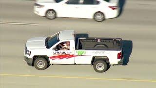 Man Driving U-Haul Pickup Shoots Himself Following Pursuit - LIVE