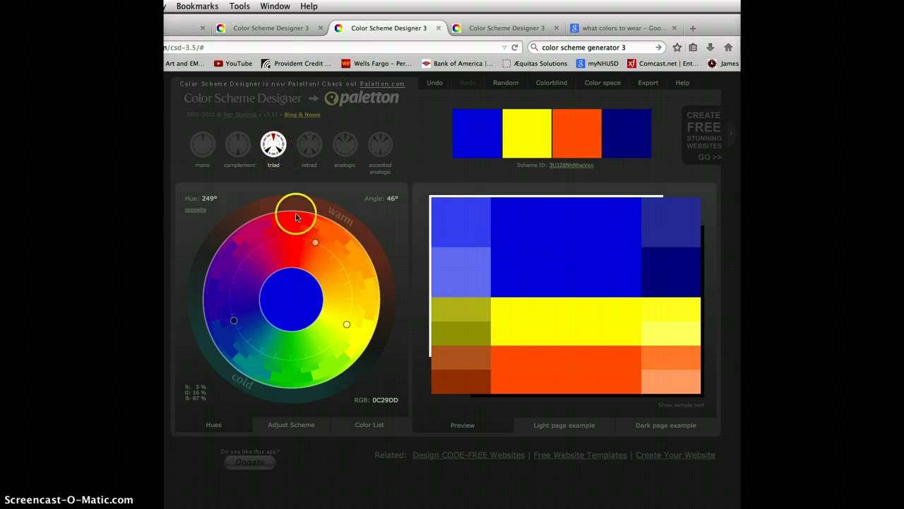 Color Scheme Designer color scheme generator 3 - youtube