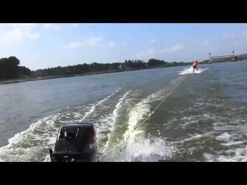 катание на водных лыжах, лодка Catfish 340, мотор Nissan Marine 15
