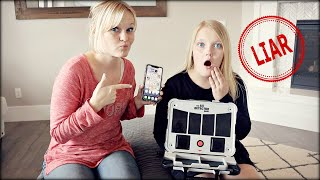 WHO is LYING and STOLE my iPhone!? Lie Detector Game