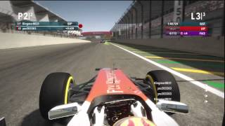 NOOB HULKENBERG CRASH IN HAMMILTON GP BRAZIL F1 2012