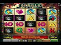 Mega Win On The Free Spin Slot Machine Gorilla By Novomatic