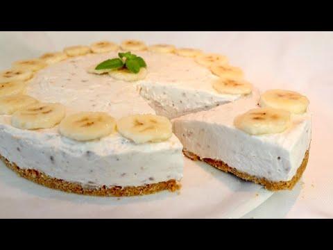 SENZA COTTURA 🍌 Deliziosa Torta Fredda  In 10 MINUTI   #314