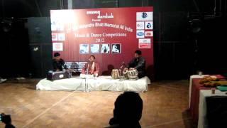 Ayush Mathur presenting raag Bhupali