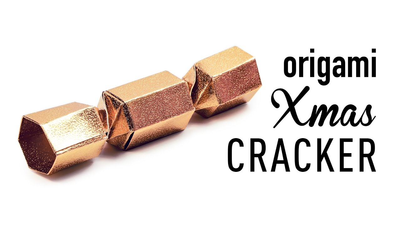 Origami Christmas Cracker Gift Box Tutorial ♥ DIY ♥ - YouTube