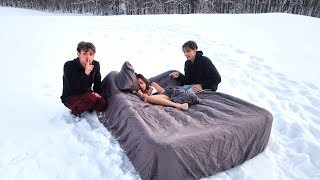 HOT GIRLFRIEND WAKES UP IN SNOW PRANK!
