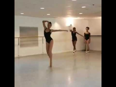 Ballet dancing mixed with modern dance