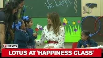 FLOTUS Melania Trump Visits Delhi Govt School In Nanak Pura, Attends 'Happiness Class'