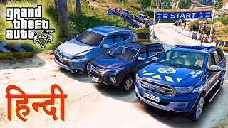 GTA 5 - Toyota Fortuner Vs Ford Endeavour Vs Mitsubishi Pajero Sport Vs Off-Road Track