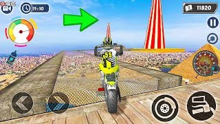 Mega Ramp GT Moto Bike Rider Stunts 2019 - Impossible Motor Games - Android Gameplay FHD  #3