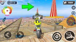 Mega Ramp GT Moto Bike Rider Stunts 2019 - Impossible Motor Games - Android Gameplay FHD  #3