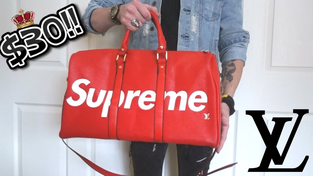 ae2edb0cbe37  30! SUPREME x LOUIS VUITTON DUFFEL BAG