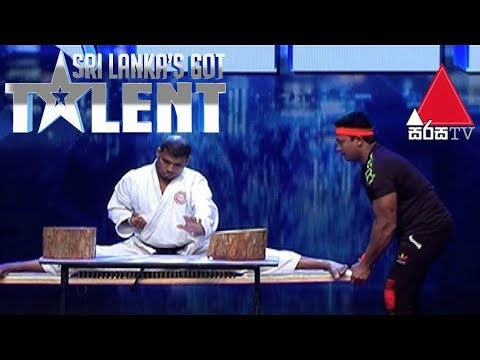 Video: Contestant slams a brick over his head and KO's himself on Sri Lanka's Got Talent
