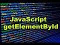 JavaScript for getElementById