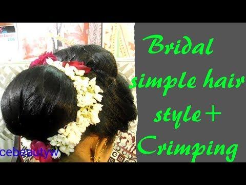 Simple bridal hair style || with || crimping || hindi