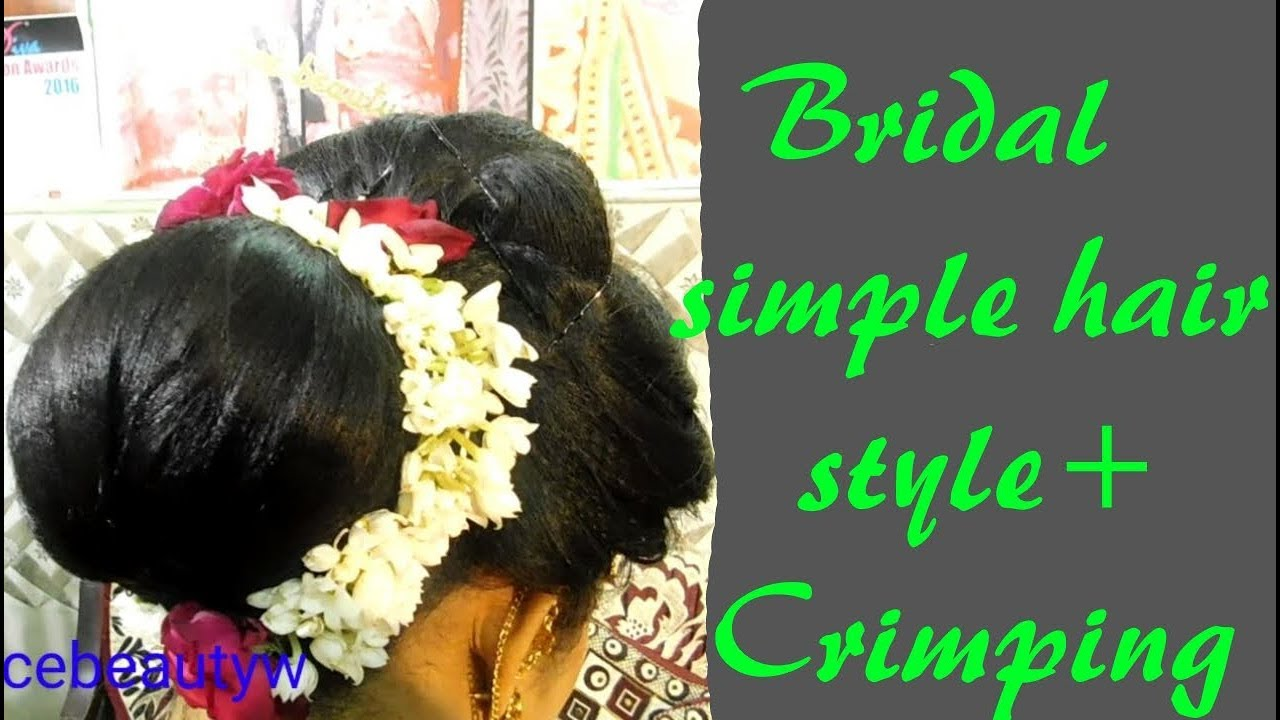Simple Bridal Hair Style With Crimping Hindi Youtube