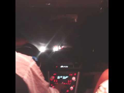 Езда в машине ночью.